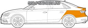 Шумоизоляция багажника - комплект материалов